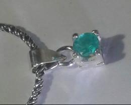 0.67 Colombian Emerald Pendant & Chain
