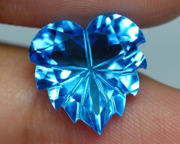 9.255 CRT LOVELY SWISS BLUE TOPAZ VERY CLEAR-