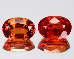 2.75 Cts Rare Fancy Orange Red Color Natural Spessartite Garnet Gemstone Pa