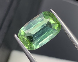 3.12 Carats Afghanistan Lagoon Green Natural Tourmaline Custom Cut