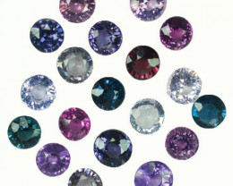 10.04Ct Natural Multi colour spinel Round mix Oval  4.50mm parcel