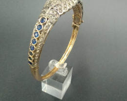 Antique. Sapphire. & Diamond  Gold. Bracelet