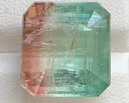 25.80 Carats Natural Bi Color Tourmaline Gemstone