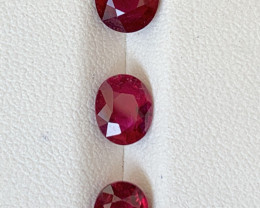 3 Carats Natural Rubellite Tourmaline Gemstones