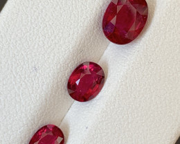 3.10 Carats Natural Rubellite Tourmaline Gemstones