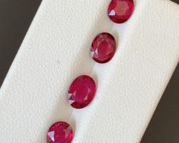 3.15 Carats Natural Rubellite  Tourmaline Gemstones