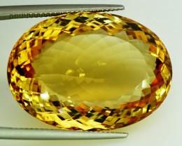 60.35 ct. 100% Natural Top Yellow Golden Citrine Unheated -IGE Certificat