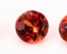 1.90 mm Garnet Rhodolite 0.61 ct Tanzania GPC Lab