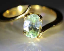 Chrysoberyl 1.75ct Solid 18K Yellow Gold Solitaire Ring