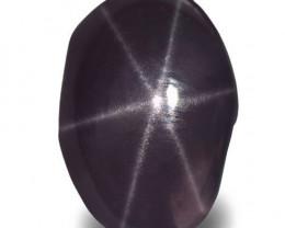 Sri Lanka Star Spinel, 0.87 Carats, Dark Purple Oval
