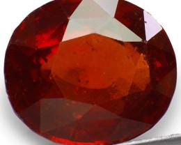 GII Certified Sri Lanka Hessonite Garnet, 12.15 Carats, Oval