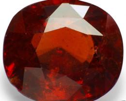 GII Certified Sri Lanka Hessonite Garnet, 10.97 Carats, Cushion