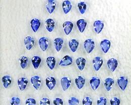 4.44 Cts Natural Purple Blue Tanzanite 4x3mm Pear Cut 38Pcs Tanzania