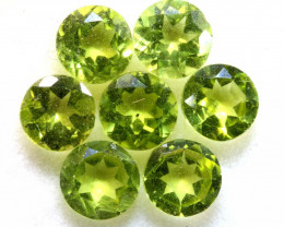 5.60 CTS GREEN PERIDOT FACETED PARCEL 7PCS   CG-3026