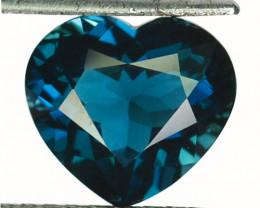 ~LOVELY~ 6.00 Cts Natural London Blue Topaz 12x11mm Heart Cut Brazil