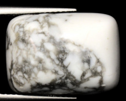 13.82 Cts Untreated Fancy White Howlite Natural Loose Cabochon