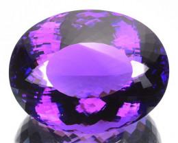 92.64 Cts Natural Purple Amethyst Oval Cut Bolivia