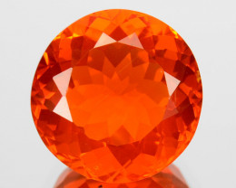 1.52 Cts Natural Top Orange Fire Opal Round Mexico Gem