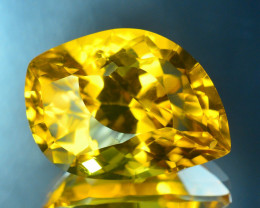 Laser Cut Beryl~7.50 Ct Natural Golden Yellow