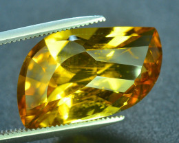 Laser Cut Beryl~7.90 Ct Natural Golden Yellow