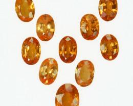 6.12 Cts Natural Fanta Orange Spessartite Garnet 6x4mm Oval 10Pcs Namibia