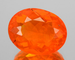 1.90 Cts Natural Top Orange Fire Opal Oval Mexico Gem
