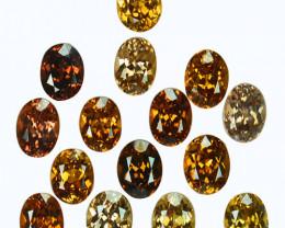 33.87 Cts Natural Sparkling Orangish Brown Zircon 15Pcs Oval Cut Tanzania