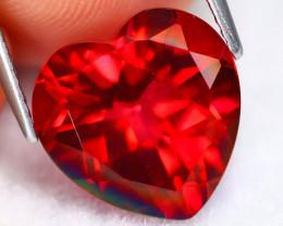 Red Topaz 7.11Ct VVS Heart Cut Natural Red Topaz C2008