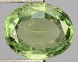 2.30 Cts Un Heated Green Color Natural Apatite Loose Gemstone