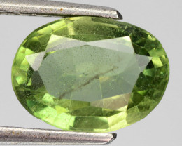 3.26 Cts Un Heated Green Color Natural Apatite Loose Gemstone