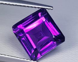 6.44 ct Top Quality Awesome Square Cut Natural Amethyst