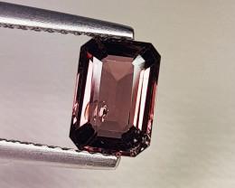 1.21 ct AAA Grade Gem  Emerald Cut Natural Purplish Pink Spinel