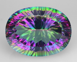 22.77 Cts Mystic Quarts Awesome Color Combination M10