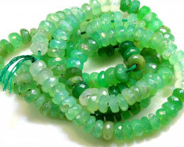 70.45 CTS CHRYSOPRASE BEAD STRAND NP-2692