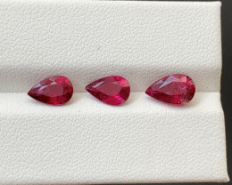 2.85 Carats Natural Rubellite Tourmaline Gemstones