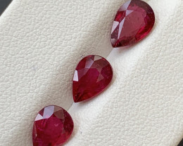 3.15  Carats Natural Rubellite Tourmaline Gemstones