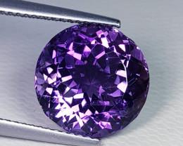 7.72 ct  Top Quality Gem Round Cut Natural Purple Amethyst