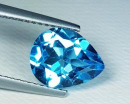 2.30 ct AAA Grade Gem Stunning Pear Cut Swiss Blue Topaz