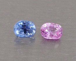 1.26ct unheated pink and blue sapphire
