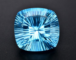 Amazing Laser Cut 39.85 Ct Natural Swiss Blue Color Topaz