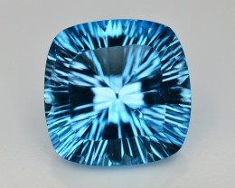 Amazing Laser Cut 31.30 Ct Natural Swiss Blue Color Topaz