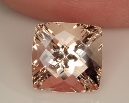 3.70ct Morganite Checkerboard