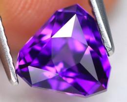 Uruguay Amethyst 1.51Ct VVS Master Cut Natural Violet Amethyst AN0348