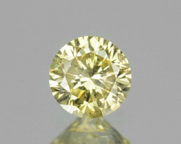 0.06 Cts Natural Untreated Diamond Fancy Yellow 2.3mm Round Cut Africa