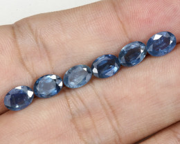 **No Reserve** 6tcw Natural Blue Sapphire Parcel (6pcs)