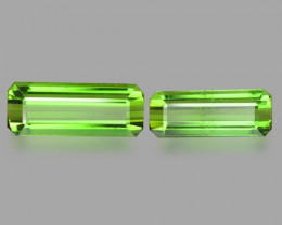 4.65 Cts Un Heated 2 Pcs Green Color Natural Tourmaline Loose Gemstone