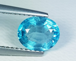 1.55 ct Exclusive  Gem Oval Cut Natural Blue Apatite