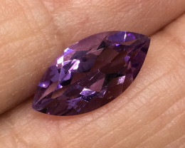 2.15 Carat VVS Amethyst Marquise Precision Cut and Polished !