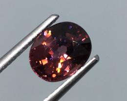 2.40 carat VS Zircon Pinkish Red Unheated Tanzania Rare !