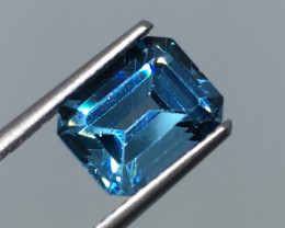 3.75 Carat VVS Topaz Swiss Blue Brazilian Beauty !
